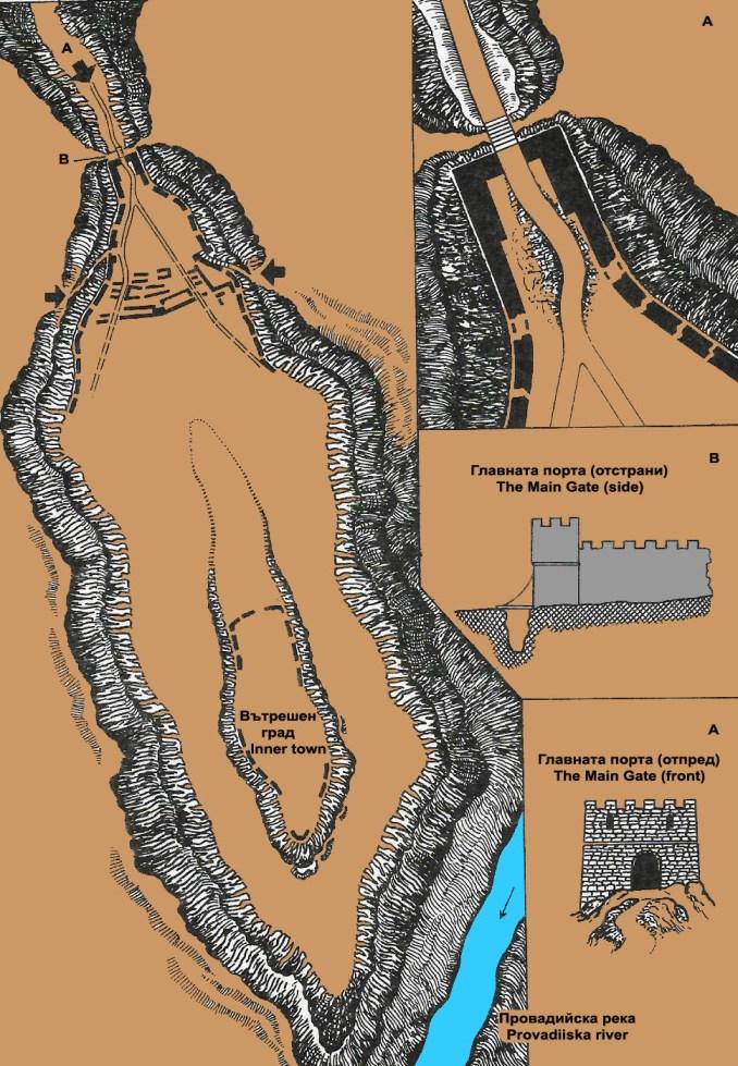Крепостта Овеч - план